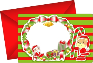 愛らしいクリスマス・カード テンプレート 8 lovely christmas card vector イラスト素材3