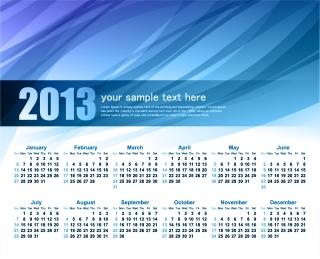 新年のカレンダー テンプレート 2013 calendar templates vector イラスト素材6