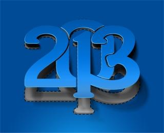 モダンな新年のタイポグラフィ modern 2013 New Year trendy typography イラスト素材3