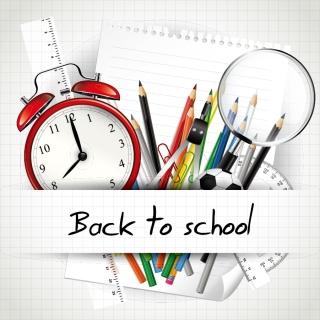 学校・文房具の背景、バナー・フレーム school backgrounds, banners and frames イラスト素材4