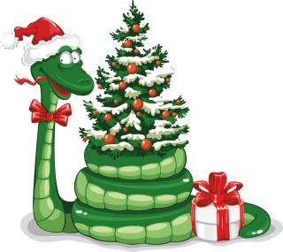 干支の蛇を描いた漫画風イラスト 2013 New Year snake backgrounds and illustrations in cartoonish style イラスト素材2