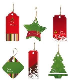 クリスマス・セールのお洒落なディスカント タグ christmas sales discount tag vector イラスト素材1