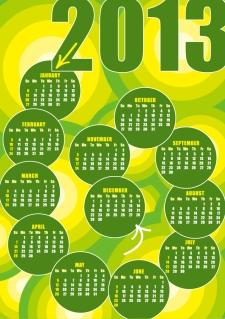 2013年のカレンダー テンプレート 2013 calendars in different styles イラスト素材5