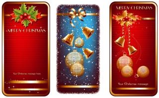 光沢あるクリスマス素材・バナー high quality christmas element vector イラスト素材2