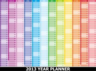 鮮やかな色の新年のカレンダー テンプレート modern design 2013 calendar templates in vivid contemporary style イラスト素材3