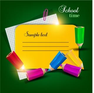 学校に関する吹き出し・フレーム・バナー School design elements vector イラスト素材2