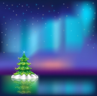 幻想的なクリスマス・ツリーの背景 christmas vector background dream イラスト素材2