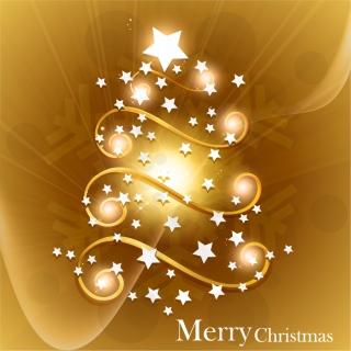 輝く星で型どったクリスマス・ツリー star christmas tree vector イラスト素材