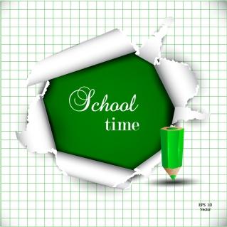 学校に関する吹き出し・フレーム・バナー School design elements vector イラスト素材1