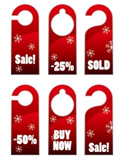 クリスマス・セールのお洒落なディスカント タグ christmas sales discount tag vector イラスト素材3