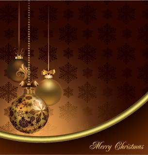 ゴージャスなクリスマス素材の背景 gorgeous christmas element vector イラスト素材4