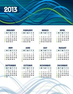 新年のカレンダー テンプレート 2013 calendar templates vector イラスト素材3