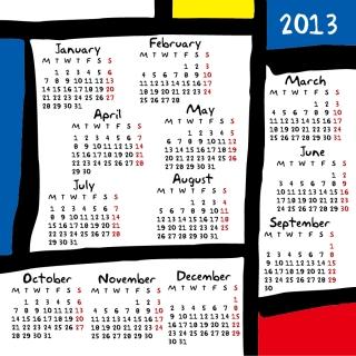 新年のカレンダー テンプレート 2013 calendar templates vector イラスト素材1
