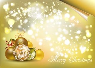 ゴージャスなクリスマス素材の背景 gorgeous christmas element vector イラスト素材1