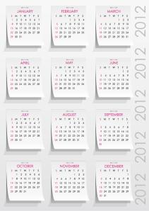 手書きの猫のカレンダー テンプレート 2013 calendars with cats イラスト素材