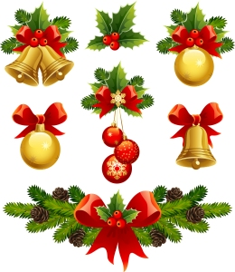 光沢あるクリスマス素材・バナー high quality christmas element vector イラスト素材