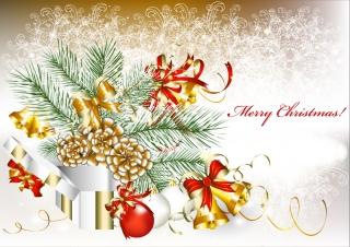 新年とクリスマスの背景 2013 New Year and Christmas cards vector イラスト素材1