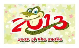 新年の干支(へび)のカード テンプレート 2013 year of the snake cards イラスト素材2