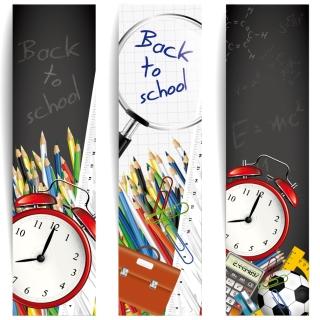 学校・文房具の背景、バナー・フレーム school backgrounds, banners and frames イラスト素材6