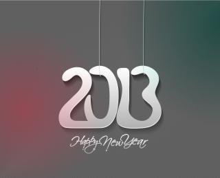 モダンな新年のタイポグラフィ modern 2013 New Year trendy typography イラスト素材1