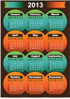 2013年のカレンダー テンプレート 2013 calendars in different styles イラスト素材3