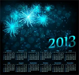 新年のカレンダー テンプレート 2013 calendar templates vector イラスト素材2