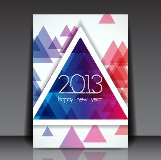 新年向けのお洒落なフライヤー テンプレート 2013 New Year flyers designs in trendy modern style イラスト素材2
