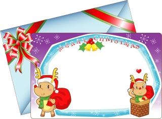 愛らしいクリスマス・カード テンプレート 8 lovely christmas card vector イラスト素材2