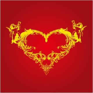 キューピッドと愛のハート Cupid Love Heart イラスト素材