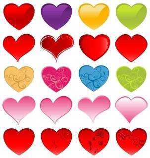 バレンタインデー カード用のカラフルなハート colorful vector love heart templates for your Valentines Day cards イラスト素材