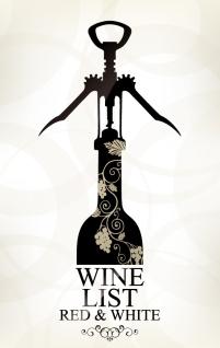 モダンなワインリスト テンプレート wine list menu templates in modern design style イラスト素材5