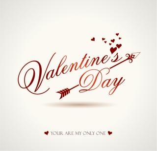 ハートを矢で射るロマンチックなバレンタインデー素材 Heart romantic valentine day graphics イラスト素材1