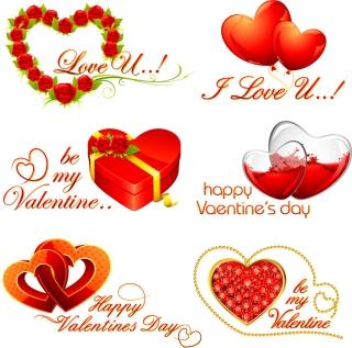 ロマンチックなバレンタインデーのハート romantic Valentine's Day hearts イラスト素材