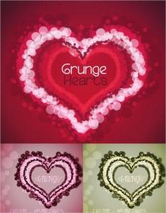 バレンタインデー デザイン向け ぼかしたハート型のフォトショップ用ブラシ hearts brushes for Photoshop in bokeh style for your Valentines day designs