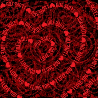 バレンタインデー ハートと愛する文字の背景 Valentine's Day hearts, love background イラスト素材