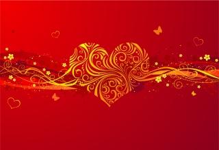 バレンタインデー ハート飾りの背景 romantic valentine day heartshaped pattern vector background イラスト素材