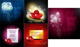 ロマンチックなバレンタインデー カード テンプレート elements of romantic love Valentine cards イラスト素材