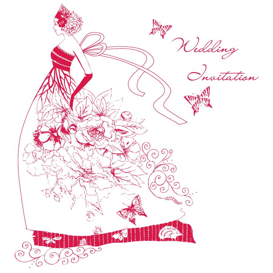 Decorative Wedding Invitation Badge 7: ǵ�婚式 Ã�ィンテージ Â�ラスト