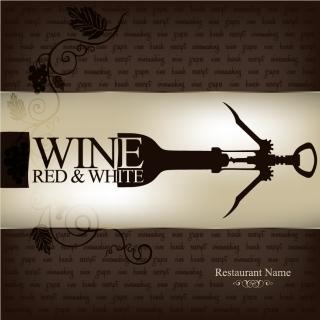 モダンなワインリスト テンプレート wine list menu templates in modern design style イラスト素材3