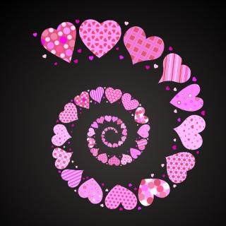 可愛いハートのバレンタインデー素材 4 Vector Heart lovely valentine day elements イラスト素材4