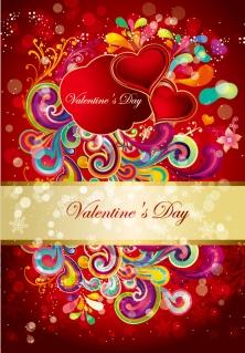 ヨーロッパ調のバレンタインデー背景 Happy Valentine's Day European-style background イラスト素材2