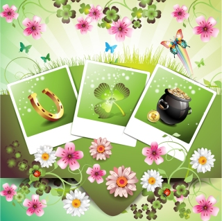 花と蝶の美しい背景 beautiful flowers background イラスト素材