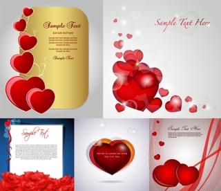 ロマンチックなバレンタインデー カードの背景 romantic Valentines Day card background イラスト素材