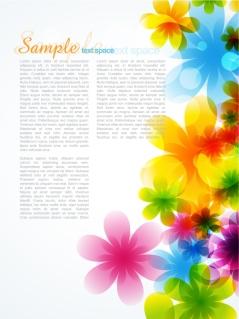 淡い色の花弁が重なる春の背景 dream spring flowers background イラスト素材