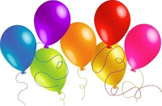 美しい色鮮やかなお祝いの風船 beautiful colorful festive balloons イラスト素材