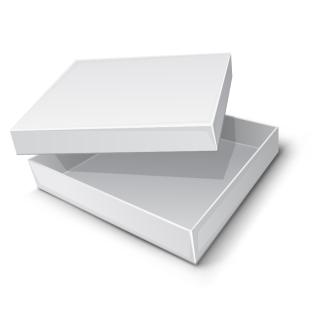 テキストや飾り付け用の白地の箱 carton blank vector イラスト素材