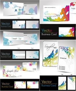 名刺の背景見本 business card templates with abstract backgrounds. イラスト素材
