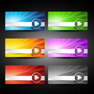 ウェブ デザイン向けバナー web design decorative elements イラスト素材