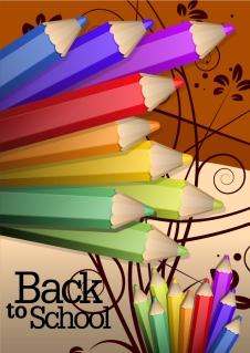 鮮やかな色鉛筆の背景 bright colored pencil illustrations イラスト素材