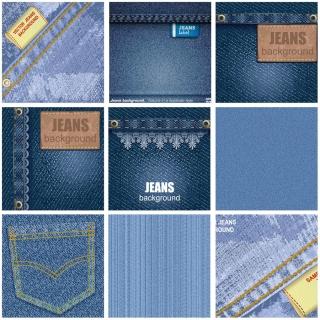 ジーンズ素材のテクスチャ 背景 jeans textures and backgrounds イラスト素材